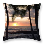 Kona Sunset Throw Pillow by Brian Harig
