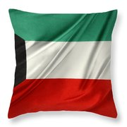 Kuwait Flag  Throw Pillow by Les Cunliffe