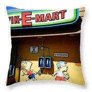 Kwik-e-mart Throw Pillow by Nina Prommer