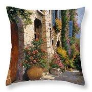la bella strada Throw Pillow by Guido Borelli