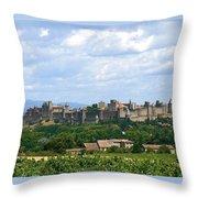 La Cite De Carcassonne Throw Pillow by France  Art