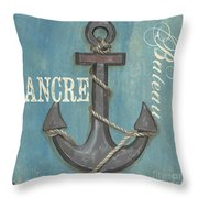 La Mer Ancre Throw Pillow by Debbie DeWitt