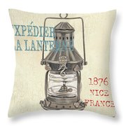 La Mer Lanterne Throw Pillow by Debbie DeWitt