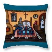 La Partera Or The Midwife Throw Pillow by Victoria De Almeida