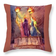 La Rogativa San Juan Puerto Rico Throw Pillow by Estela Robles