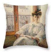 La Signora Massimino Throw Pillow by Umberto Boccioni