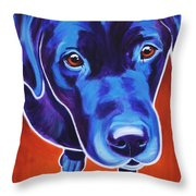 Lab - Olive Throw Pillow by Alicia VanNoy Call
