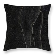 Lady In A Charcoal Bow Entwined Figures Series Throw Pillow by Cathy Peterson