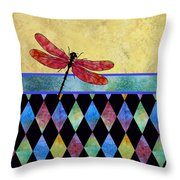 Lady In Red Throw Pillow by Jenny Armitage