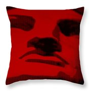Lady Liberty In Red Throw Pillow by Rob Hans
