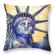 Lady Liberty Throw Pillow by Linda Mears