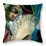 Lady Of Renaissance Throw Pillow by Zina Zinchik