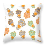 Lady Peacock Throw Pillow by Susan Claire