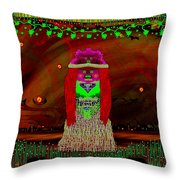 Lady Rabbit With Friend Baby Metal Panda Throw Pillow by Pepita Selles