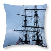 Lady Washington's Masts Throw Pillow by Heidi Smith