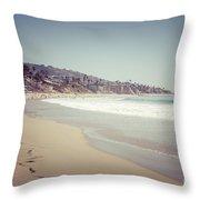 Laguna Beach Retro Picture Throw Pillow by Paul Velgos