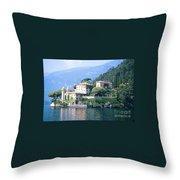 Lake Como Palace Throw Pillow by Greta Corens