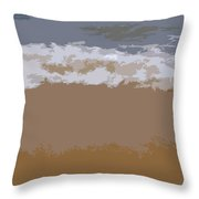 Lake Michigan Shoreline Throw Pillow by Michelle Calkins