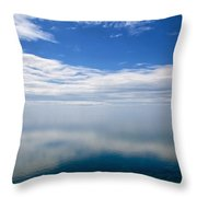 Lake Michigan's Lost Horizon Throw Pillow by Mary Lee Dereske
