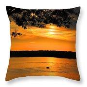 Lake Panarama Sunset Throw Pillow by Bob Hislop