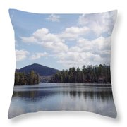 Lake Placid Throw Pillow by JOHN TELFER