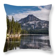 Lake Reflection Throw Pillow by Robert Bales
