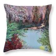 Lake Tranquility Throw Pillow by Alys Caviness-Gober