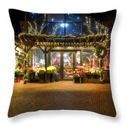 Lambert's At Faneuil Hall Throw Pillow by Joann Vitali