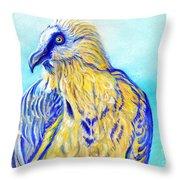Lammergeier Vulture Throw Pillow by Christine Belt