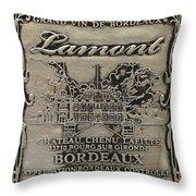 Lamont Grand Vin De Bordeaux  Throw Pillow by Jon Neidert
