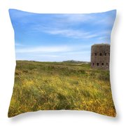 L'ancresse Bay - Guernsey Throw Pillow by Joana Kruse