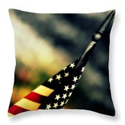 Land Of The Free - 2 Throw Pillow by Susanne Van Hulst