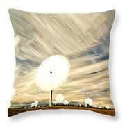 Land Of The Giant Lollypops Throw Pillow by Matt Molloy