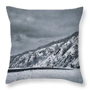 Land Shapes 13 Throw Pillow by Priska Wettstein