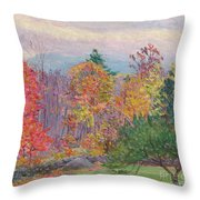 Landscape At Hancock In New Hampshire Throw Pillow by Lilla Cabot Perry