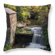 Lantermans Mill Throw Pillow by Dale Kincaid