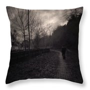 Last Alone Throw Pillow by Taylan Soyturk