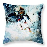 Last Run Throw Pillow by Hanne Lore Koehler