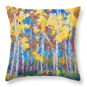 Last Stand Throw Pillow by Talya Johnson
