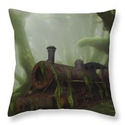 Last Stop Throw Pillow by Jack Zulli
