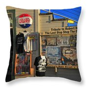 Last Stop Shop Throw Pillow by Lynn Bauer
