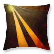 Late Night Encounter Throw Pillow by Edward Fielding