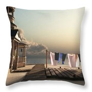 Laundry Day Throw Pillow by Cynthia Decker