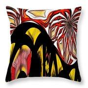 Lava Flow Throw Pillow by Alec Drake