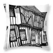 Lavenham Timber Throw Pillow by Shirley Miller