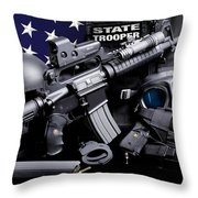 Law Enforcement Tactical Trooper Throw Pillow by Gary Yost
