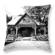 Lawn Chair Theater in Leiper's Fork Throw Pillow by Janet King
