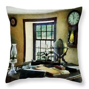 Lawyer - Globe Books And Lamps Throw Pillow by Susan Savad