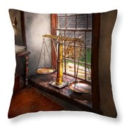 Lawyer - Scales Of Justice Throw Pillow by Mike Savad