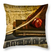Lawyer - The Constitutional Lawyer Throw Pillow by Paul Ward